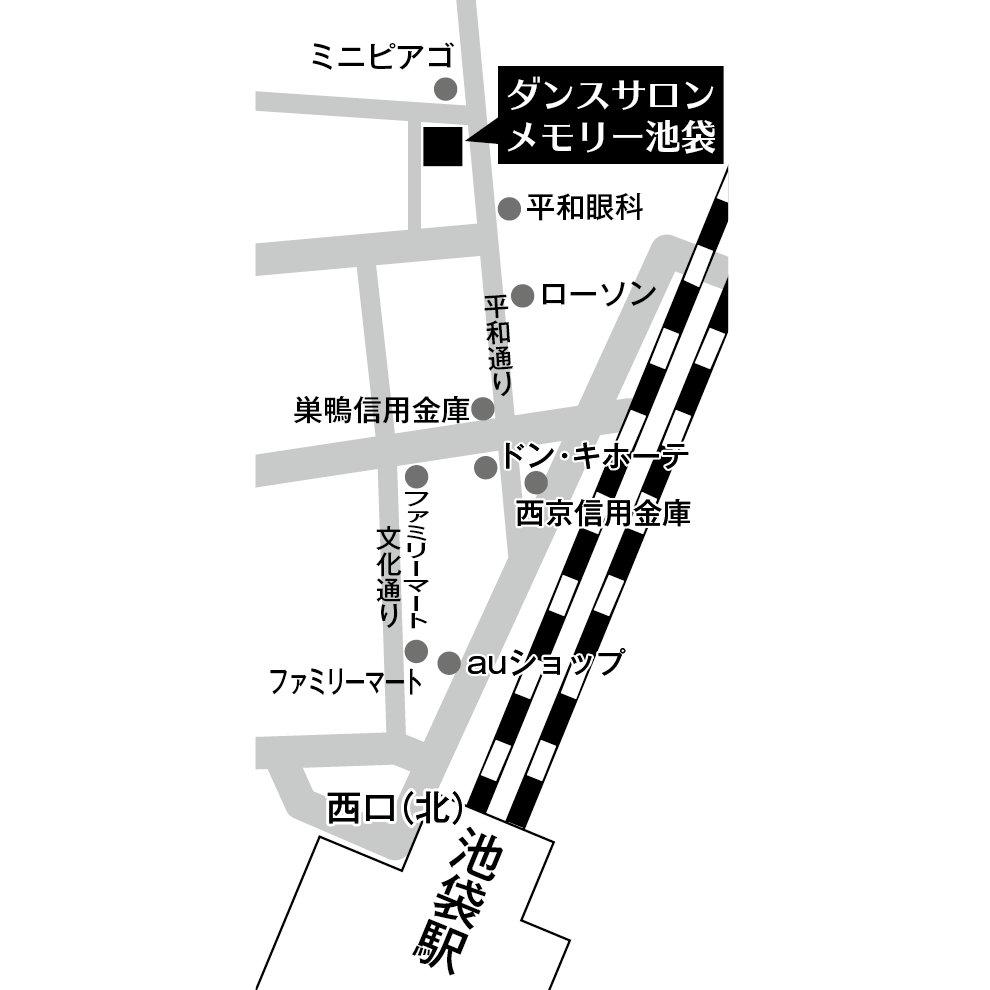 ダンスサロンメモリー地図